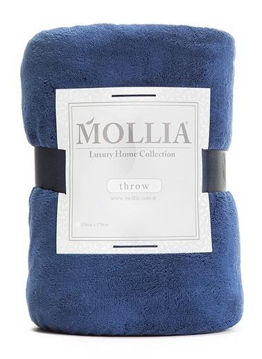 Mollia Soft Touch Diz Üstü Battaniye Mavi